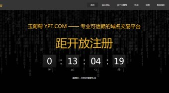 玉葡萄YPT.com——专业可信赖的域名交易平台 距离开放注册不足14小时