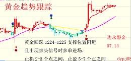 达永磐金:7.17趋势跟踪,晚评黄金原油最新走势分析及操作策略