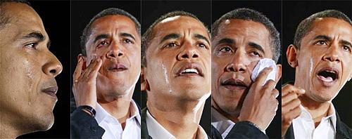 """奥巴马落泪,虽然他的努力已经得到了美国民众的理解,也被大家尊称为美国的""""好人""""。"""