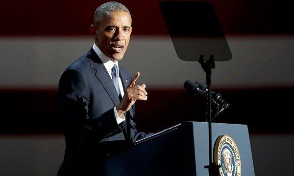 奥巴马告别演讲今日在芝加哥举行