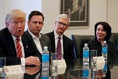 """特朗普约见硅谷技术领袖 未来科技领域将遭遇哪些政策""""壁垒"""""""