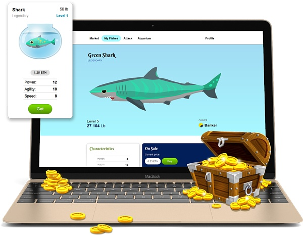 """区块链游戏""""Fishbank""""加密鱼即将大热 已有超过20万玩家登陆"""