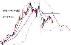 嘉月解盘:日内黄金如期在1356下跌,晚间震荡10点即收割