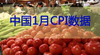 中国1月CPI同比上涨2.5%  1月PPI同比上涨6.9%