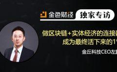 金丘科技CEO左鹏:做区块链+实体经济的连接器 成为最终活下来的1% | 独家专访