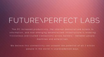 Future\Perfect实验室将推出融合区块链技术与物联网等创新技术的项目