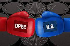 美原油增产VS欧佩克减产:油价的下一站是70美元还是30美元