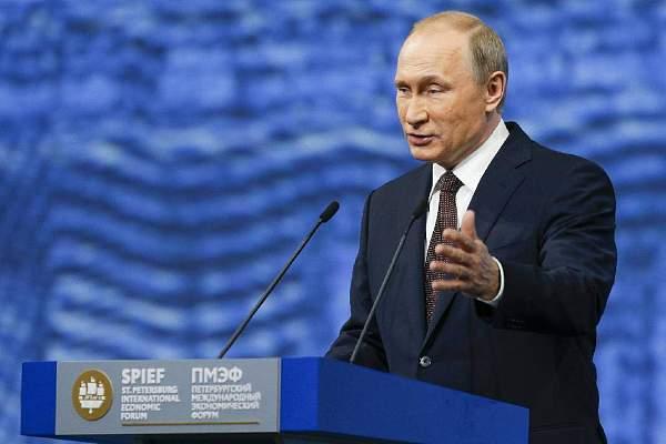俄罗斯总统普京出席SPIEF会议