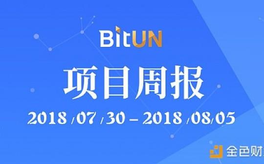 周报|BitUN项目进展20180730至20180805