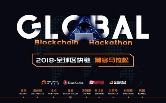 全球区块链黑客松8月18日至19日激战硅谷最强战队提前曝光