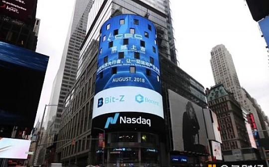 BitZ 二度强势登陆纽约时代广场纳斯达克大屏