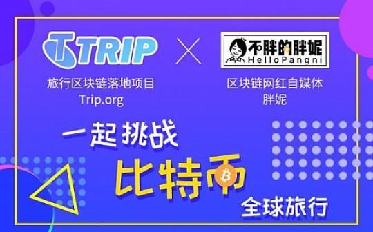 区块链+旅行落地项目Trip.org助力胖妮 挑战BTC全球旅行