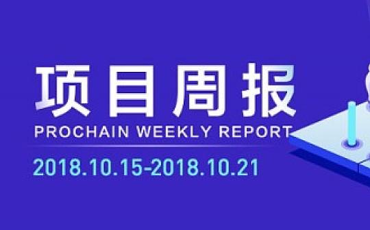 般若PROCHAIN项目周报 2018.10.15-2018.10.21