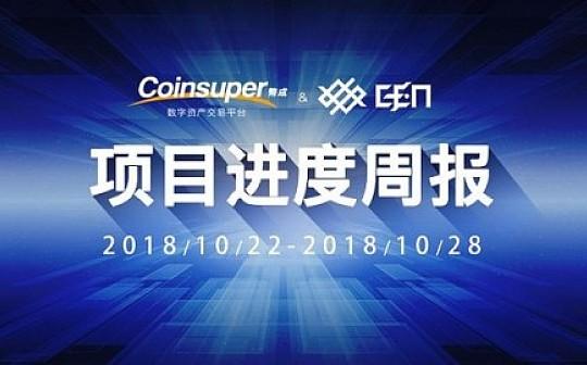 利好 获金钱服务经营者牌照及许可证|Coinsuper项目进展10.22-10.28