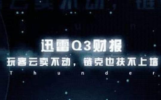 迅雷Q3财报:玩客云卖不动链克也扶不上墙