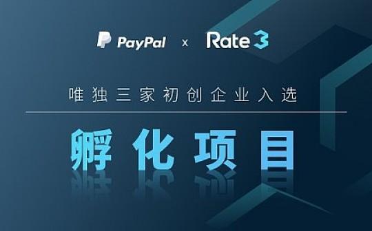2018年:Rate3成功入选为PayPal孵化器项目