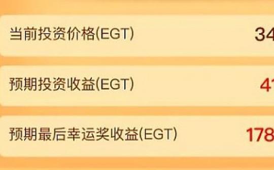 Egretia上线1款新游戏《赫尔墨斯的钱袋》 2小时充值5000万EGT