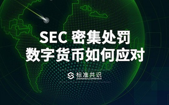 SEC 密集处罚 数字货币如何应对|标准共识