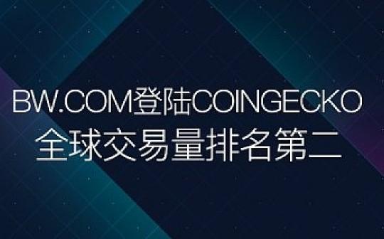 BW.COM登陆全球知名数字货币排行网站 全球交易量排名第二
