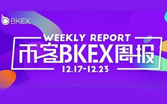 币客BKEX周报(12.17--12.23)