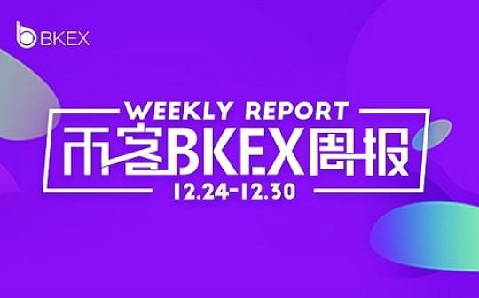 币客BKEX周报(12.24--12.30)