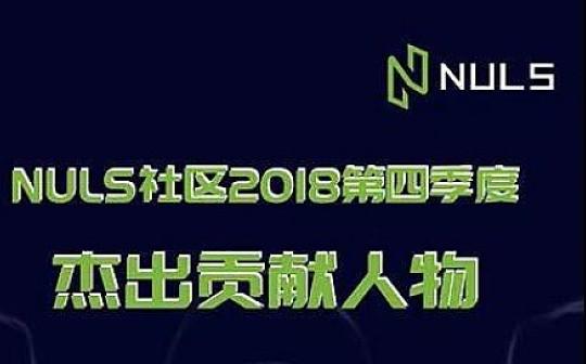 NULS社区2018年第四季度杰出贡献人物征集