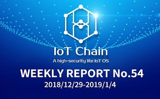 「周报No.54」ITC万物链项目进展更新2018/12/29-2019/1/4