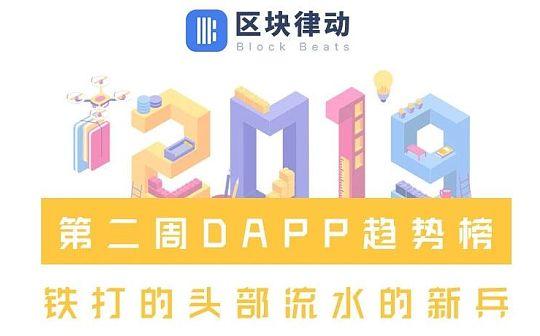 第二周DAPP趋势榜:铁打的头部 流水的新兵
