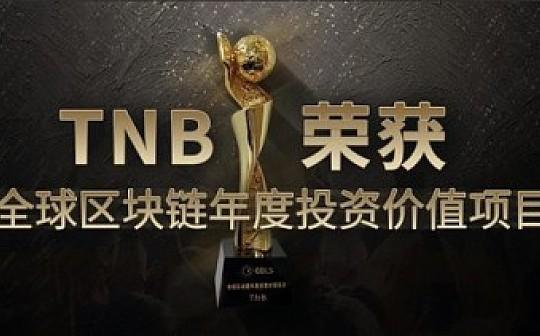 TNB荣获GBLS全球区块链年度投资价值项目奖