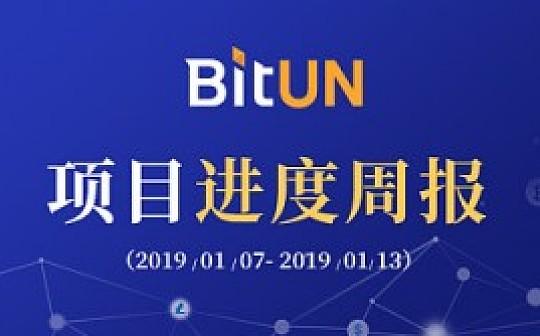 周报丨BitUN 项目周报1.07-1.13