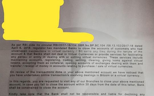 史上最强禁令!印度央行:别玩币,否则关闭你的银行账户!