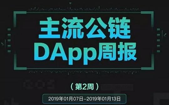 第2周DApp周报 :DApp交易总额明显上涨  最大涨幅达44%