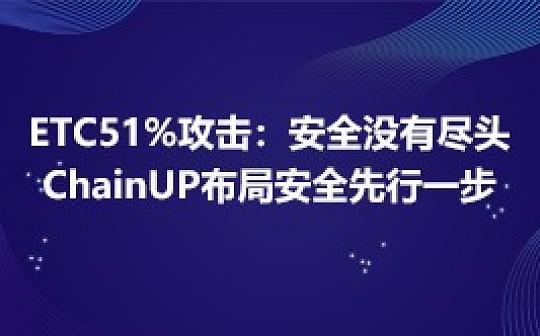 ETC51%攻击揭示安全没有尽头  ChainUP布局安全先行一步
