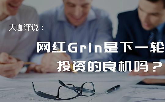 大咖评说:网红Grin是下一轮投资的良机吗?