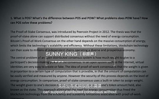 Sunny King和V神视频对话:君士但丁堡对垒SPoS共识算法