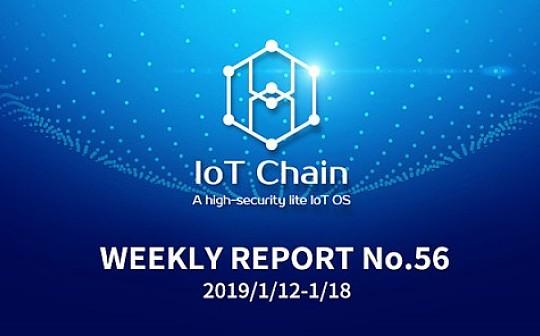 「周报No.56」ITC万物链项目进展更新2019/1/12-1/18