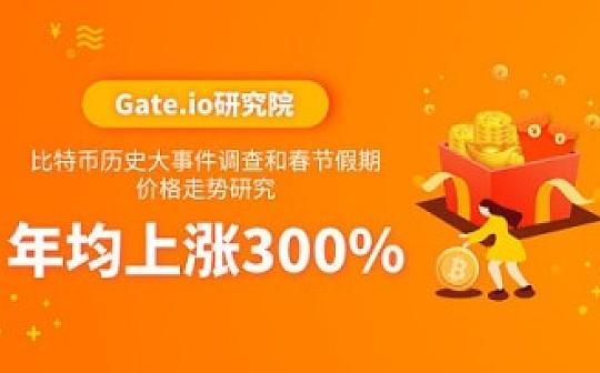 Gate.io研究院:比特币历史大事件调查和春节假期价格走势研究-年均上涨300%