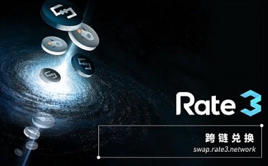 Rate3跨链兑换: 区块链之间无障碍移交资产