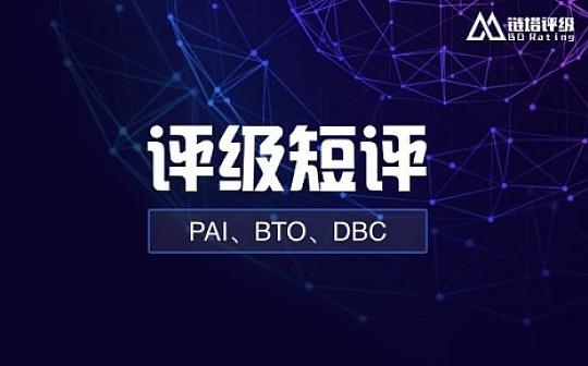 链塔短评合集 PAI BTO为BB级 DBC下调至B级