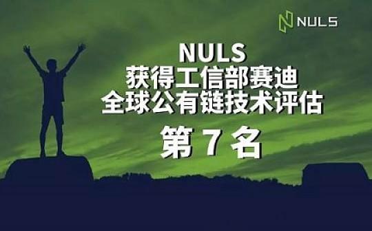NULS纳世链喜评全球公有链技术评估第七名