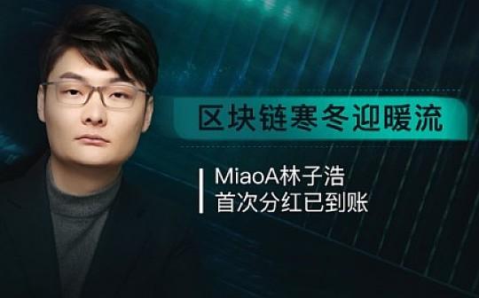 MiaoA发行人林子浩首次分红已到账 持有者信心大涨