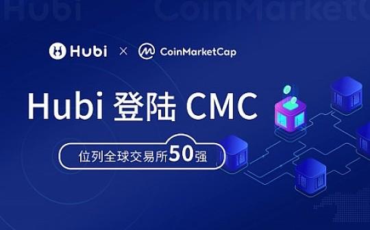 Hubi强势登陆CoinMarketCap 位列全球交易所50强