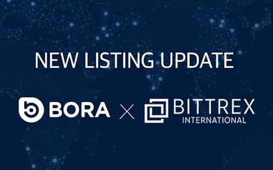 区块链数字内容平台BORA上线Bittrex International