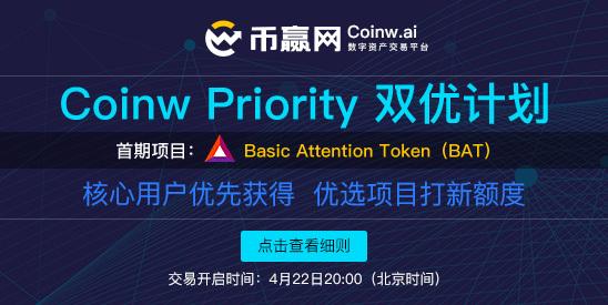重磅丨币赢网Coinw Priority双优计划正式上线