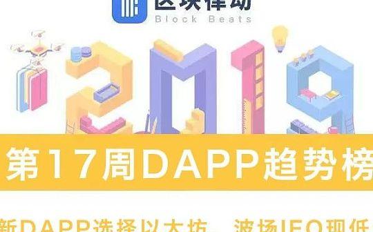 DAPP趋势榜:超半数新DAPP选择以太坊 波场IEO现低级漏洞 | 第17周