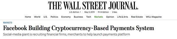 Facebook稳定币4大细节曝光 加密货币有望走向主流
