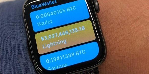 Apple Smart Watch Introduces Bitcoin Lightning Network Wallet App