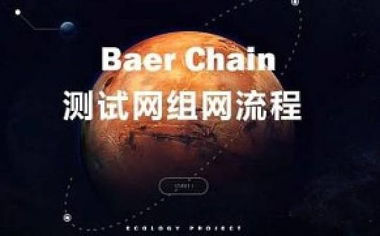 Baer Chain测试网组网流程