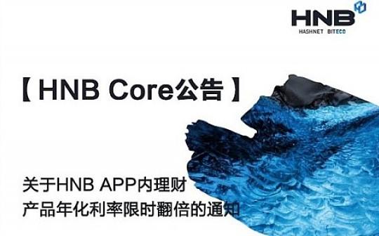 关于HNB APP内理财产品年化利率限时翻倍的通知