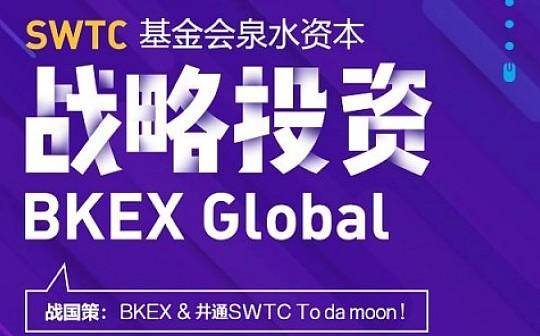 SWTC公链孵化基金泉水资本战略投资BKEX Global